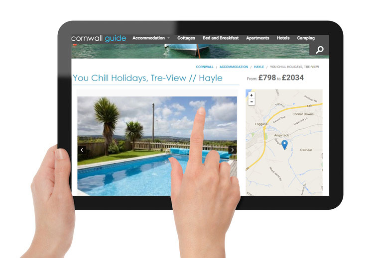 Advertise accommodation on Cornwall Guide