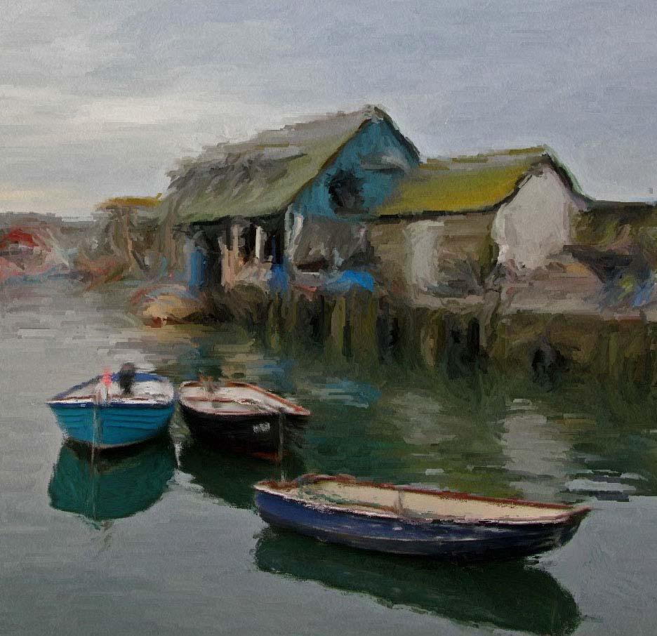 Oil Paintings Cornwall Boat