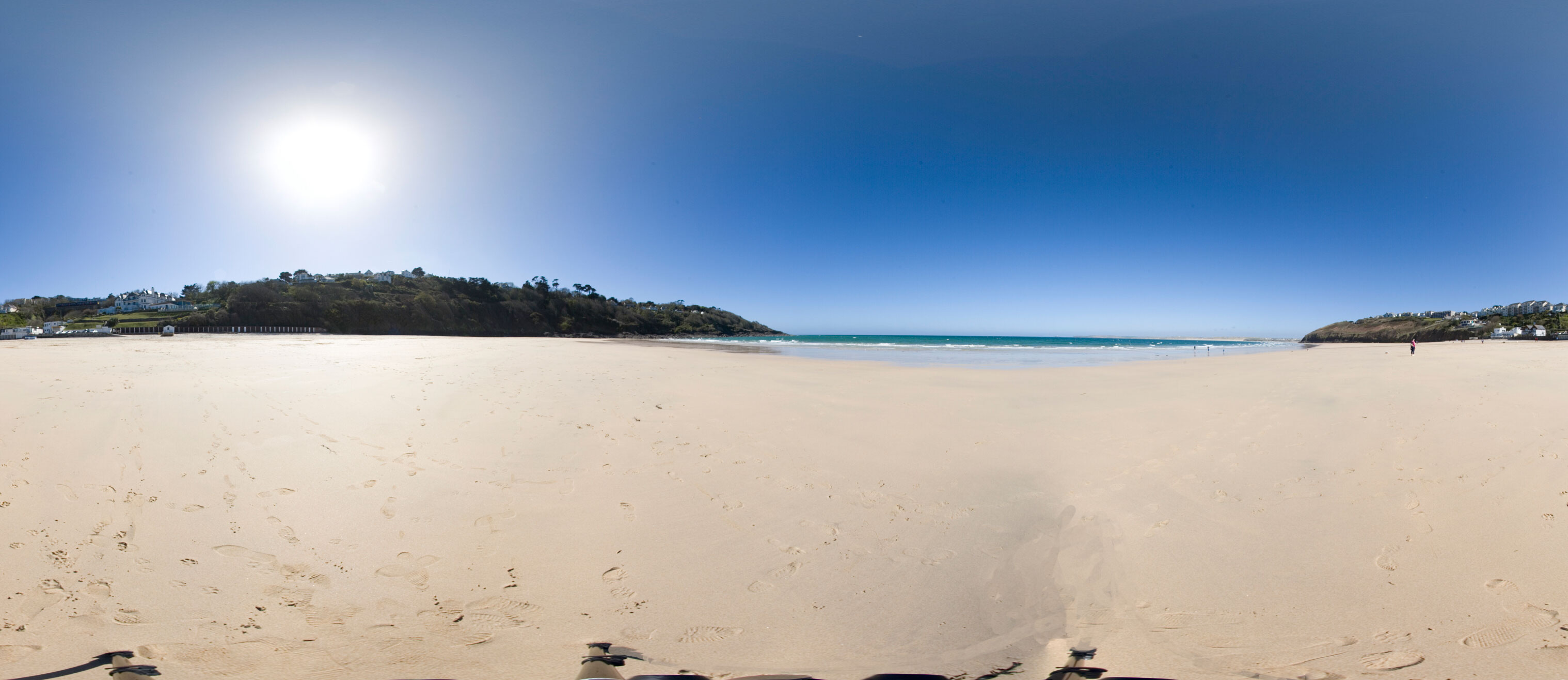 Carbis Bay Beach 360 Degree Panorama Cornwall Guide