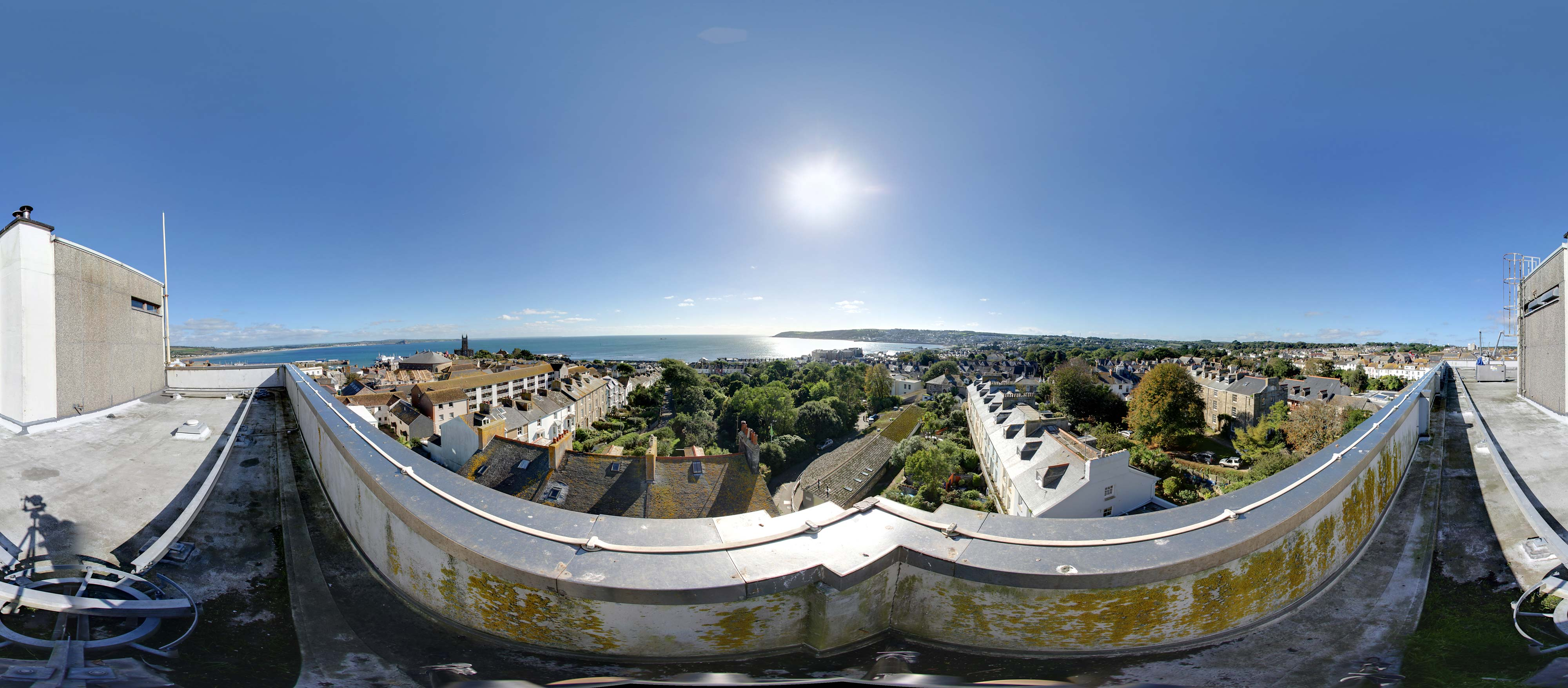 Panoramic View From Penzance S Tallest Building Cornwall
