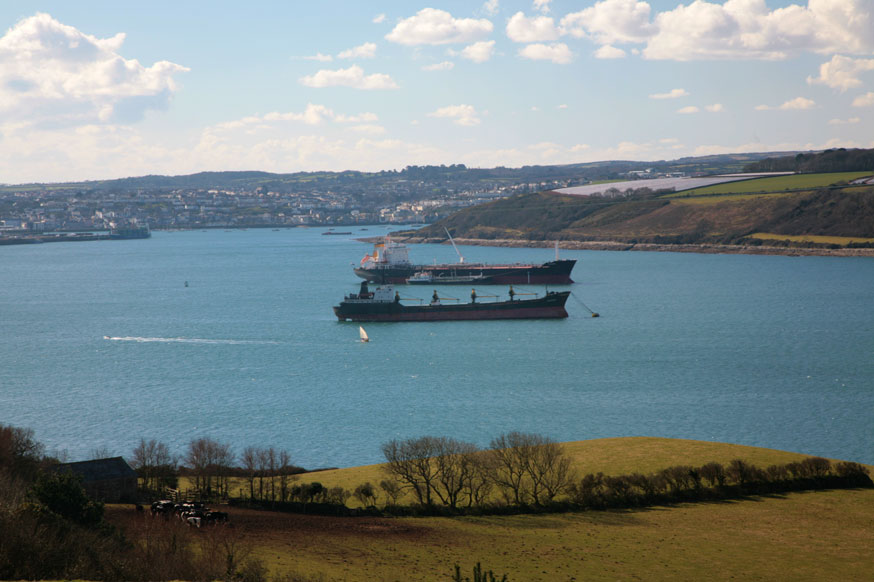 Ships at Anchor in the Carrick Roads