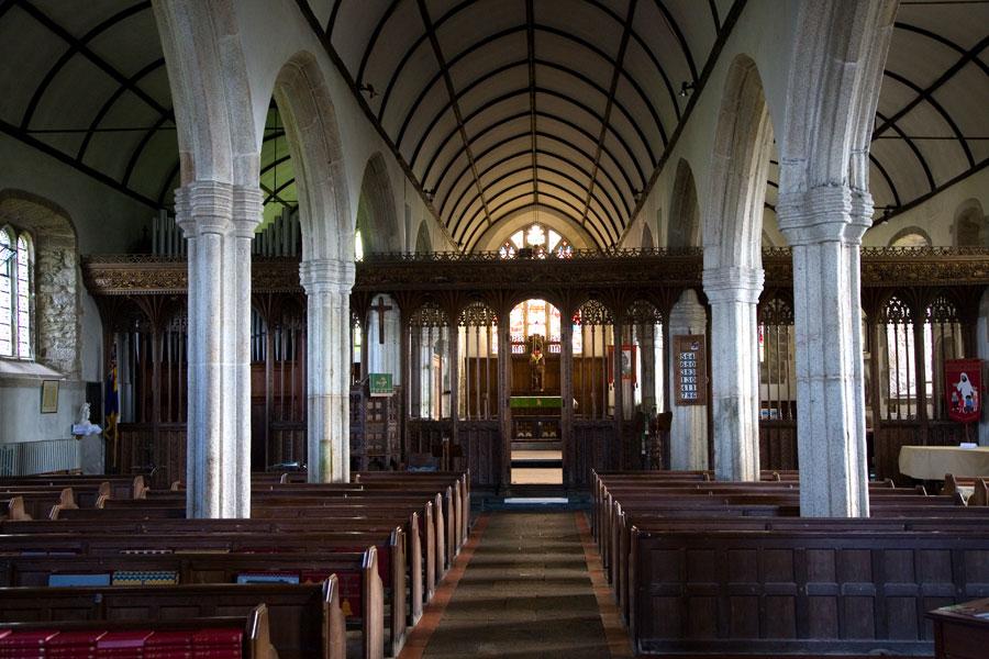 St Buryan Church Interior Cornwall Guide