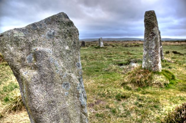 Boskednan Stone Circle detail