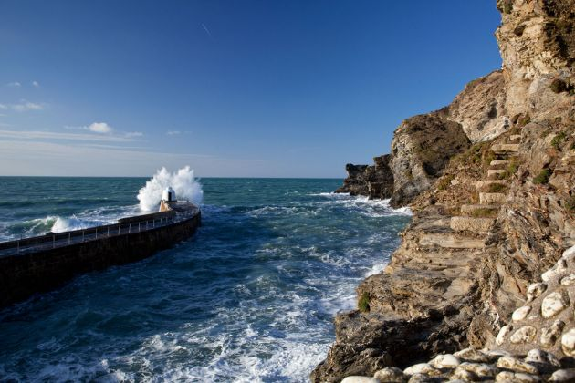 Portreath Harbour entrance