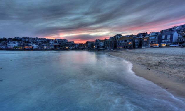 St Ives Harbour - Winter Sunset