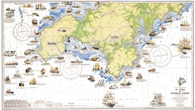 Cornwall shipwrecks map