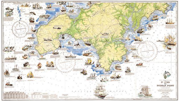 Cornwall shipwrecks map