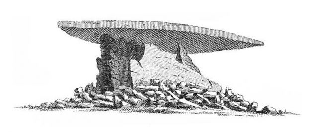 Zennor Quoit before its collapse