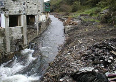Boscastle flood aftermath