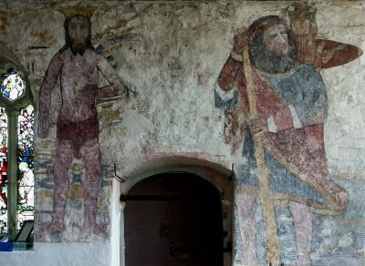 Breage church medieval wall paintings