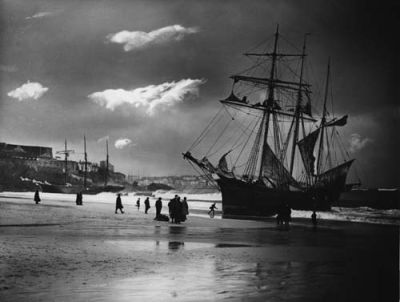 Mary Barrow and Lizzie R Wilce Beached at St Ives
