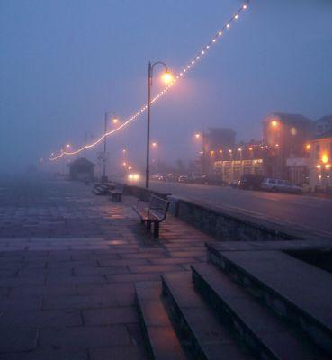 Penzance Promenade in the Fog