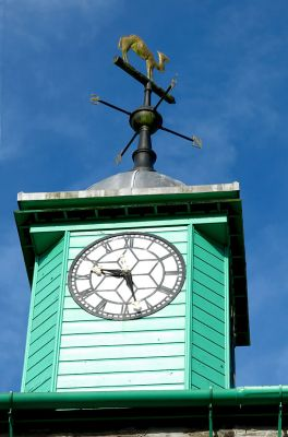 Camelford Town Hall - camel and clock