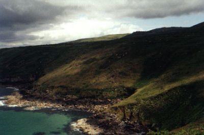 Ominous looking cliffs near Zennor