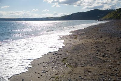 Downderry beach shoreline