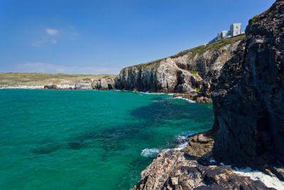 Droskyn Point cliffs - Perranporth