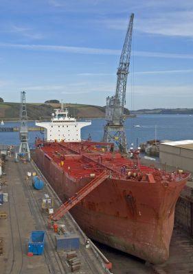 Tanker in Falmouth Dry Docks
