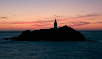 Godrevy Lighthouse After Sunset - Hayle