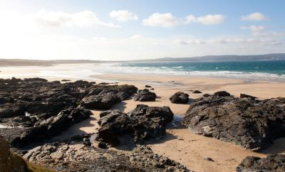 Hayle beaches from Godrevy