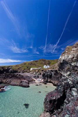 Kynance Cove - Looking back to the cafe