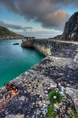 Lamorna's Broken Harbour Wall