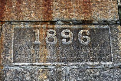 Penzance Promenade 1896 plaque