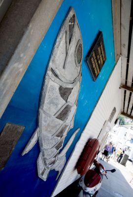 Polperro fish market memorial
