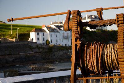 Rusty old winch - Portmellon