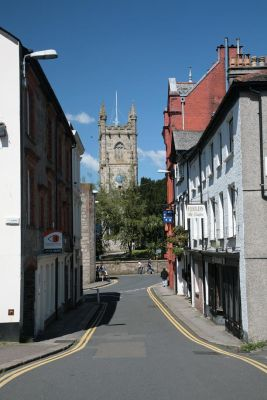 St Austell Church from East Hill