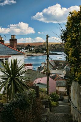 View down to the river - St Mawes