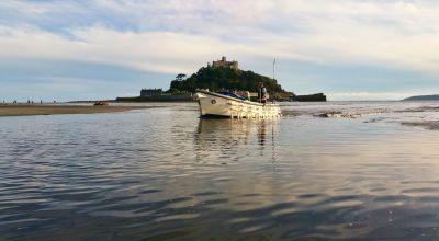 St Michael's Mount ferry boat retuning