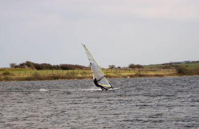 Windsurfing on Stithians Lake