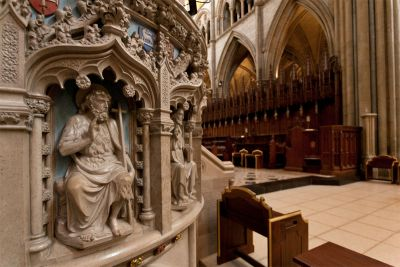 Truro Cathedral pulpit