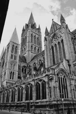 Truro Cathedral - Black and White