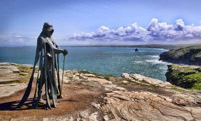 Tintagel - King Arthur Sculpture