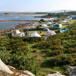 Campsites on the beach