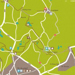 China Clay Trails map