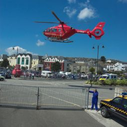 Air Ambulance emergency landing