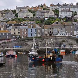 Entering Mevagissey Harbour