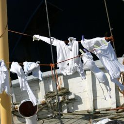 Washing day down at the harbour - Penzance