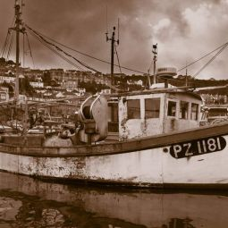 Fishing Boat lying in Newlyn Harbour