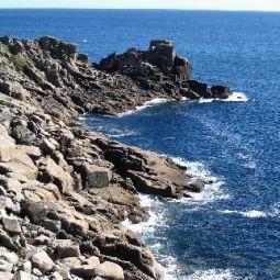 Granite cliff at Lamorna