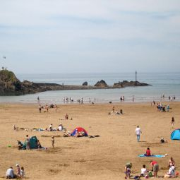 Summerleaze Beach and Breakwater - Bude