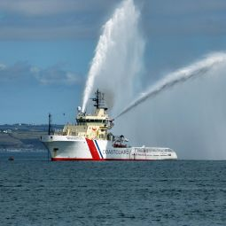 Coastguard Vessel Spraying