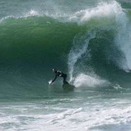 First Big Swell of the Autumn - Porthleven