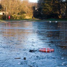 Penzance Boating Pool - Frozen