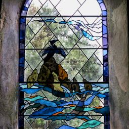 Bryher church stained glass window