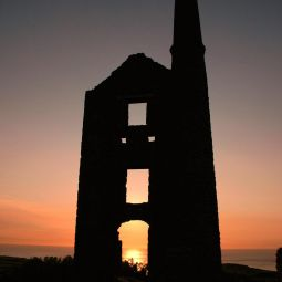 Carn Galva Engine House Silhoutte
