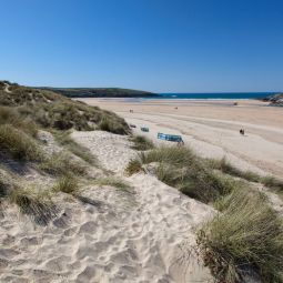Crantock beach from the sand dunes