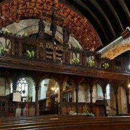 Crantock church rood screen